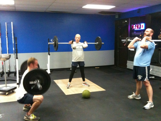 Clayton Kristin Jamie Front Squat, Smashby Training, CrossFit Lakewood, CrossFit in Denver