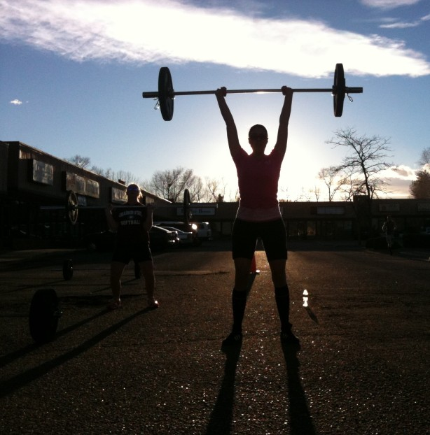 CrossFit, Smashby Training, CrossFit Lakewood, CrossFIt in Denver, Hero WOD, workout, fitness, running, Clean and Jerk, olympic lifting, sunset, Pati Lockout, Abbate