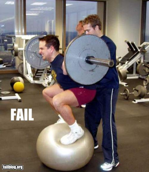 CrossFit, CrossFit Lakewood, Smashby Training, Failblog, Ball Squat Fail