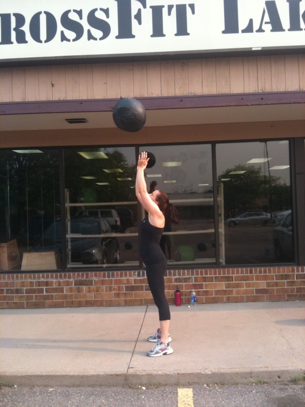 CrossFit, Smashby Training, CrossFit Lakewood, Sunday Funday, Chrissy, Med Ball Double-Clap