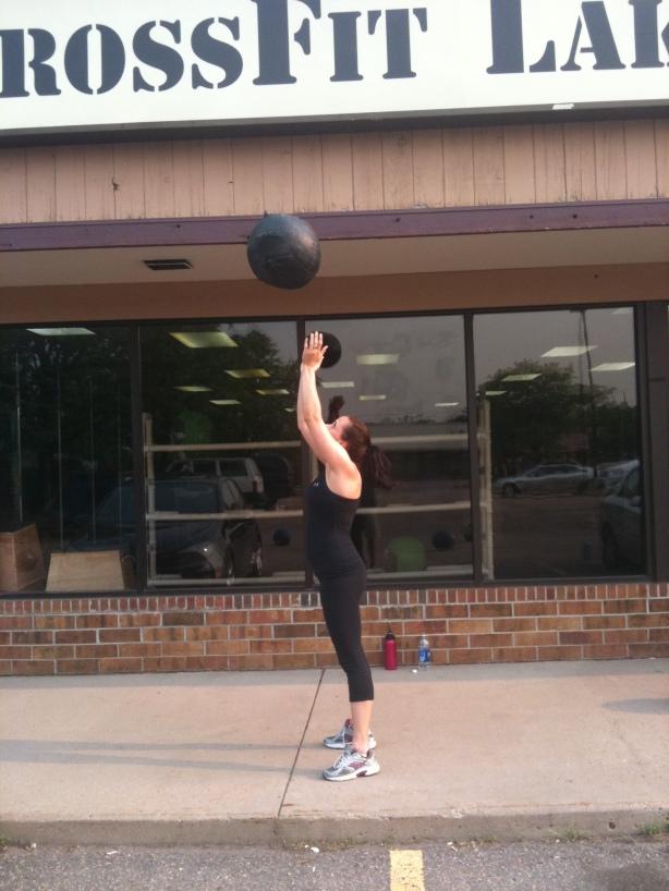 CrossFit, Smashby Training, CrossFit Lakewood, Sunday Funday, Chrissy, Med Ball Double-Clap