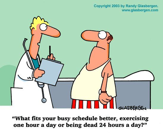 CrossFit, Smashby Training, Thought of the Day, Randy Glasbergen, Exercise Cartoon