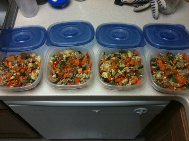 CrossFit, Smashby Training, Cooking with Smashby, Finished Scramble, Breakfast Scramble