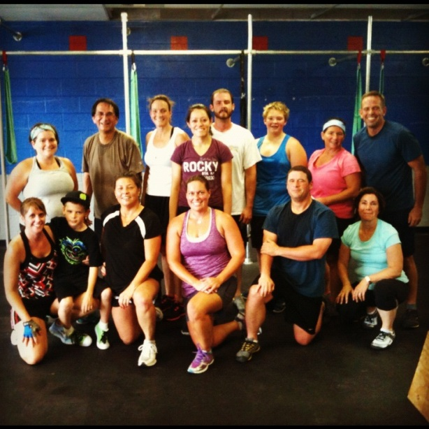 CrossFit, CrossFit Lakewood, Smashby Training, Group Shot, Sunday Funday 8-5-12