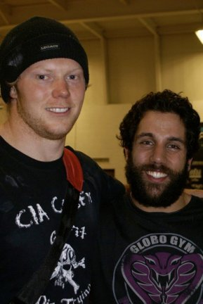 Me and Kevin back in March, 2010. My first day, of my first CrossFit Competition.